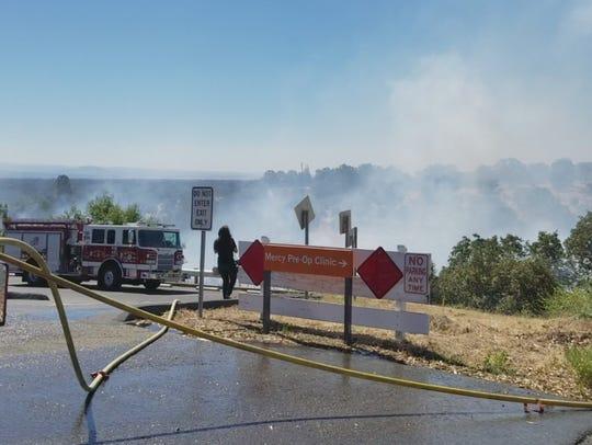 A vegetation fire broke out on Thursday morning in