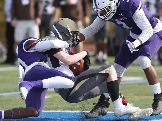 New Rochelle defeated Clarkstown South 40-15 in the Section 1 Class AA championship game at Mahopac High School Nov. 4, 2017.