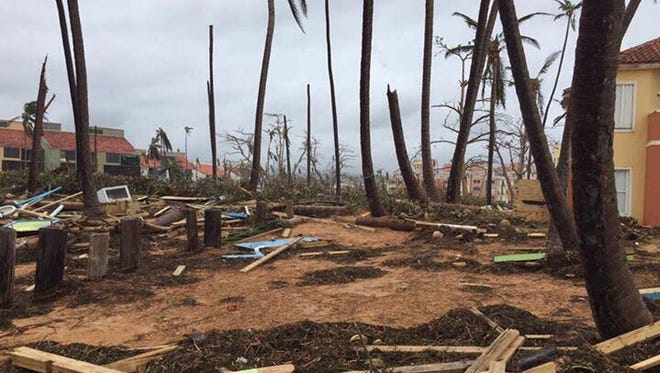 Devastation from Hurricane Maria near San Juan, Puerto Rico.
