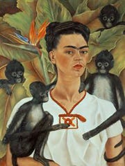 Frida Kahlo (Mexican, 1907–1954). Self-Portrait with Monkeys, 1943. Oil on canvas, 32 1/8 x 24 3/4 in. The Jacques and Natasha Gelman Collection of 20th Century Mexican Art and the Vergel Foundation