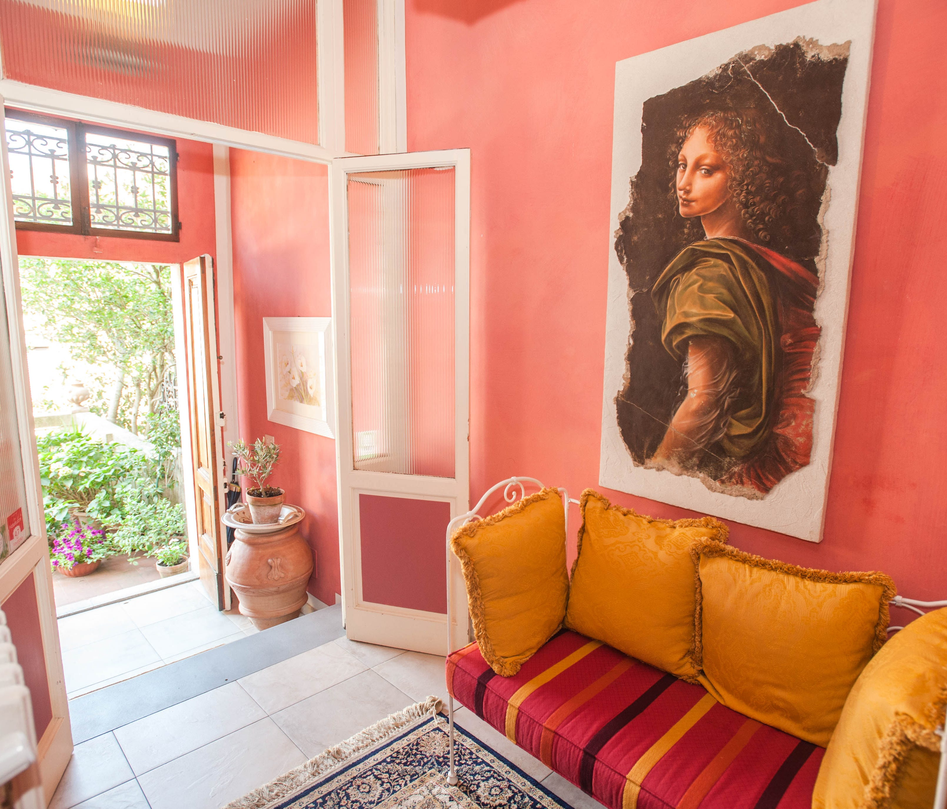 B&B Monte Oliveto, Florence, Italy: Located in a lovely home on the south side of the Arno River, the four-room B&B Monte Oliveto is just as delightful outside as it is on the inside. Walk through the iron gate and go up the stairs that lead to a bea