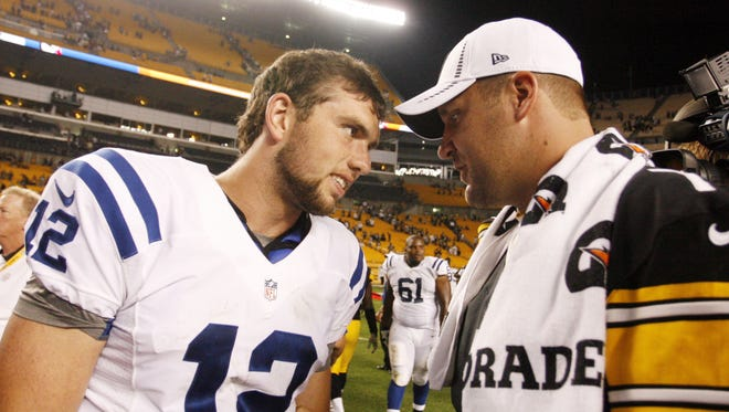 Colts quarterback Andrew Luck and Steelers quarterback Ben Roethlisberger will meet for just the second time Thursday.