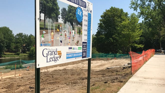 Eaton County's first splash pad will open to the public at Grand Ledge'sJaycee Park Aug. 13.