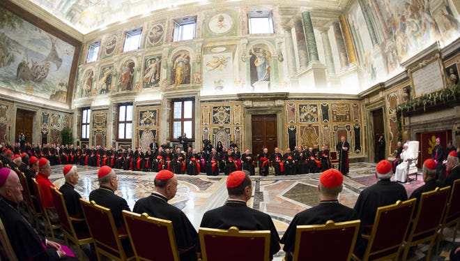 Francis' Christmas greeting to the cardinals, bishops and priests who run the Holy See was no joyful exchange of holiday good wishes. Rather, it was a sobering catalog of 15 sins of the Curia that Francis said he hoped would be atoned for and cured in the New Year.