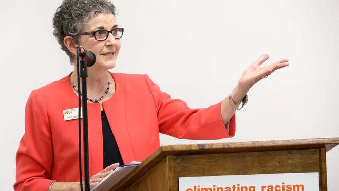 President and CEO Nancy Wesson‐Dodd from the YWCA talked about the women that were honored during the 36th annual Y Women In Career Awards in January 2016 at the YWCA in Corpus Christi.