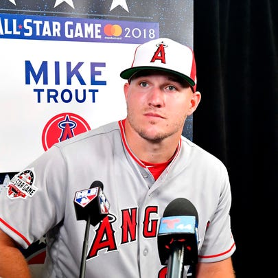 Millville native Mike Trout of the Los Angeles Angels