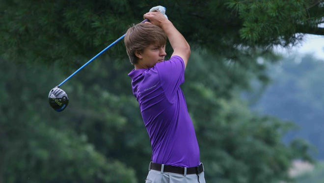 Reed Winkler, shown here winning the DSGA Junior Championship last July, fired a 1-under-par 35 to earn medalist honors as top-ranked Salesianum and No. 2 Tower Hill played to a tie in a high school golf showdown last Tuesday.