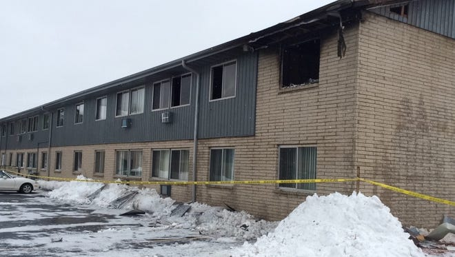 Fire in the apartment at the upper right caused smoke and other damage to this building at 1686 Shawano Ave., Green Bay, on Sunday, Jan 3, 2016