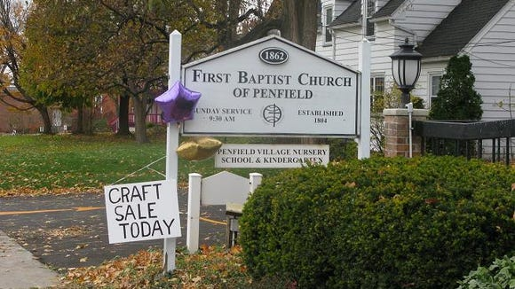 First Baptist Church of Penfield-sign