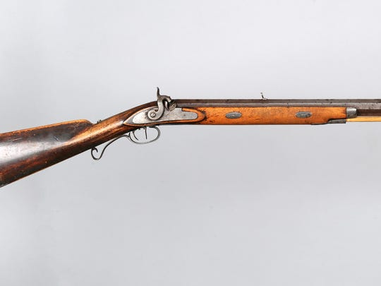 Jim Bridger's Hawken Rifle, c. 1850. The mountain man sold it to Pierre Chien, for $65 at Fort C. F. Smith in southern Montana Territory. Chien was an interpreter for the Crow tribe. It's been in the Montana Historical Society collection since 1910.