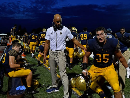St. Thomas Aquinas Raiders defensive line coach Jason