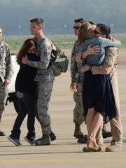 Airmen return home to Barksdale Air Force Base Tuesday