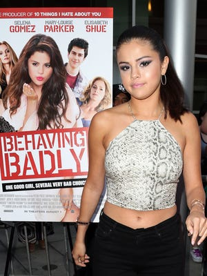 Selena Gomez at premiere of 'Behaving Badly' in Hollywood n July 29. But she's not the one behaving badly in Spain.