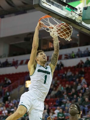 UWGB guard Sandy Cohen III had 17 points and 12 rebounds against Oakland on Saturday.