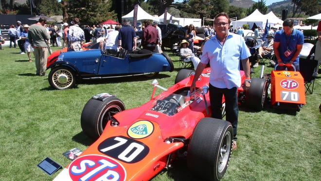 Milton Verret from Texas brought his 1968 Lotus Type 56-3  turbine powered Indy racer to the  the Quail Motorsports Gathering in Carmel Valley. Now it's up for auction.