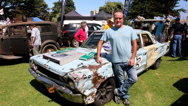 Adrian Smith and his 1966 Plymouth Belvedere race car at the Concours D'Lemons in Seaside. Calif., last year