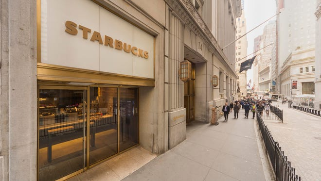 Starbucks is opening its first-ever express format store at 14 Wall Street.