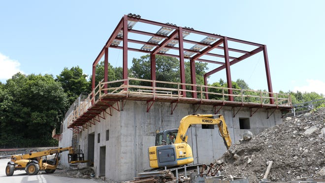Construction progress with the ozone improvement project at the Poughkeepsie Water Treatment Facility as seen on Wednesday, August 12, 2015.