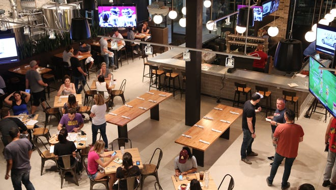 The view of the interior of Pedal Haus Brewery, opening on Friday, Sept. 25 on Mill Avenue in Tempe.