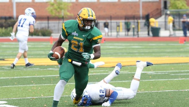 Franklin's Dan Andrews, a junior running back for Brockport State, has scored 13 touchdowns, tops in the country in Division III, in just four games. He is on pace to rush for 1,000 yards for a third straight season.