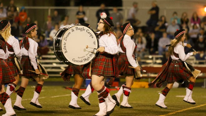 The Central Kilties are an all-girl Scottish drum and bugle corps that performs at sporting events and parades year round.