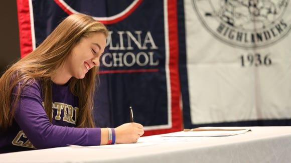 Carolina Day senior Tess Harris has signed to play college basketball for Western Carolina University.