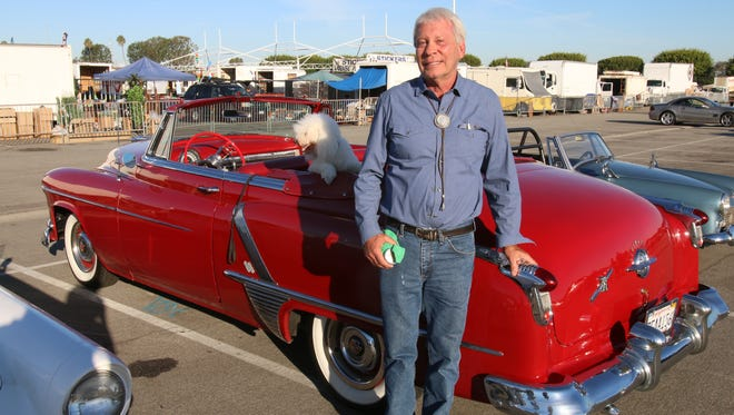 Keith Poplet, from Laguna Niguel, with his 1952 Oldsmobile Rocket 88