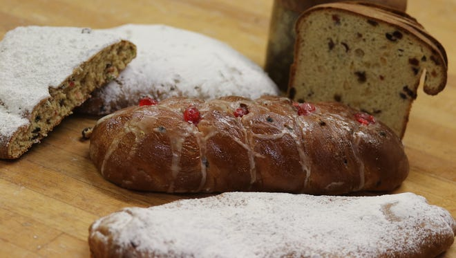 A selection of Christmas breads are available at Cascade Baking, including Apricot Delight, Danish Julekage, German Stollen and Italian Panettone.