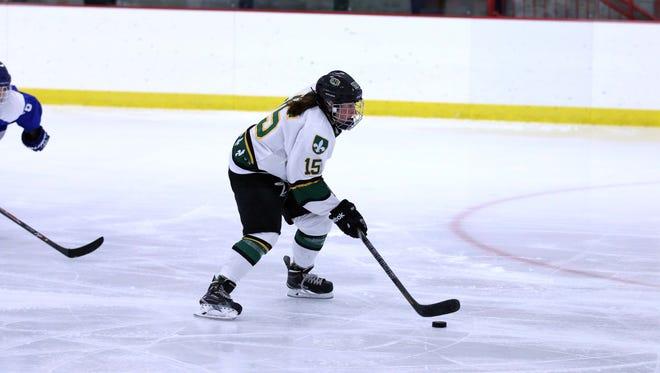 Senior forward Lauren Roethlisberger broke the St. Norbert College women's hockey team's record for career assists this season.