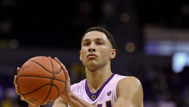 LSU star Ben Simmons was mentioned by President Obama during Obama's Baton Rouge visit on Thursday.