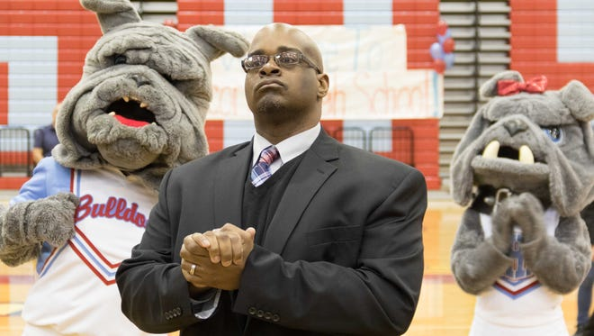 Marcus Graham was announced as the new Socorro head football coach on Wednesday afternoon in a ceremony at the school.