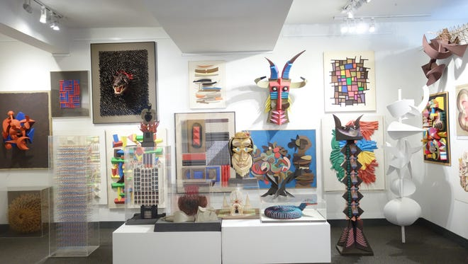 A view of the Irving Harper show in January 2015 at the Rye Arts Center, which was the only time his works were publicly displayed. His works sold for $1.2 million at a recent auction.