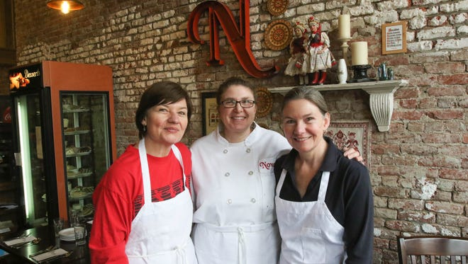 Matilda, left, Kaymarie and Karen Novak are the three sisters who run Novak's Hungarian Restaurant.