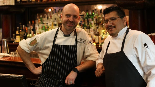 The Barlow Room owner Chris Czarnecki and chef Erick Caballero.