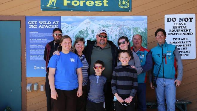 The Norton family enjoyed a memorable ski vacation thanks to the generosity of Ski Apache and several local businesses