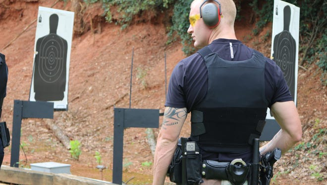Allen Jacobs at the shooting range.