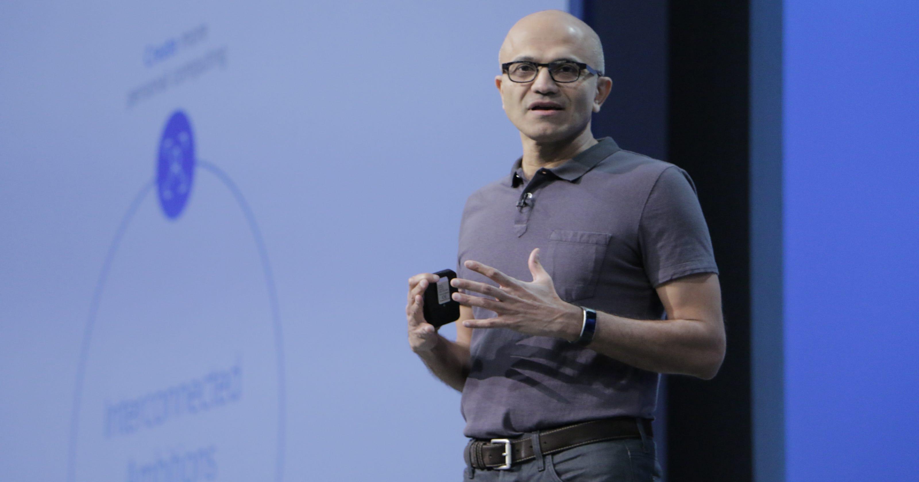 Microsoft CEO Nadella: \'Bots are the new apps\'
