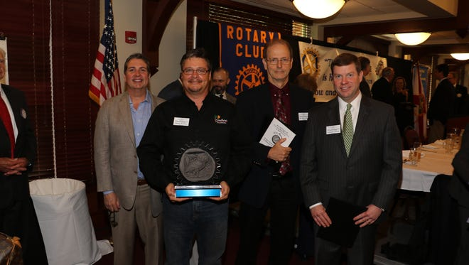 Rotary's 16th Annual Ethics in Business Award in Memory of Bill Dugger held at the FSU Alumni Center in an annual city wide meeting.The nominees, left to right are, Walter Colon, winner Shawn Yoakam, Dr. Allan Dean, and Sammie Dixon.
