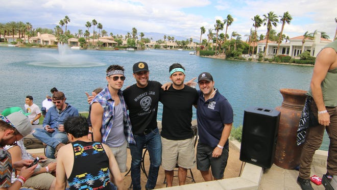 Josh Henderson, Tyler Rich, Ryan Rottman and Ricky Abramson at the Boots On Stage Shindig In The Desert.