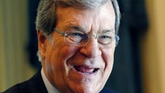 Former U.S. Senate Majority Leader Trent Lott laughs