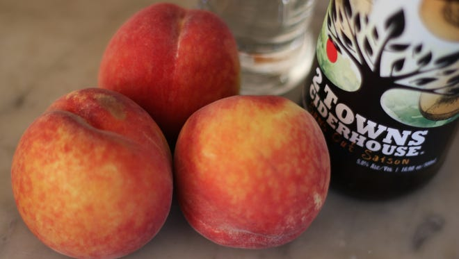 The latest limited-edition release from 2 Towns cider house, Sun's Out Saison, is a dry cider that's rich with aroma and flavor of peaches, perfect for summer drinking.