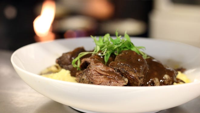 The braised short ribs and polenta is one of the new menu items you'll find at Ruffino's on the River.