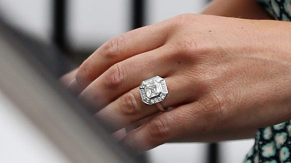 Photographers broke our their zoom lenses for a close-up on Pippa's engagement ring when she stepped out on Thursday.