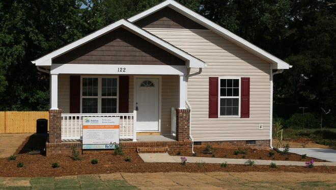 Nakita Bouie's new Simpsonville home was built through Habitat for Humanity.