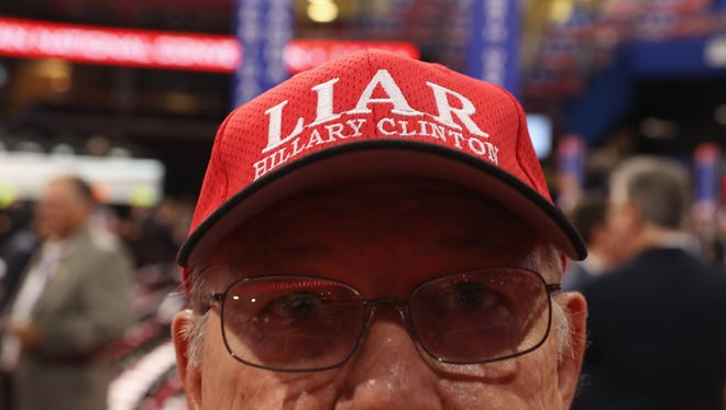 An attendee at the Republican National Convention.