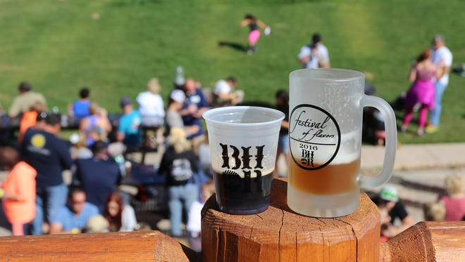 Community members taste local vendors' beer, wine and spirits at the annual Festival of Flavors at Brianhead Resort on Aug. 6, 2016.