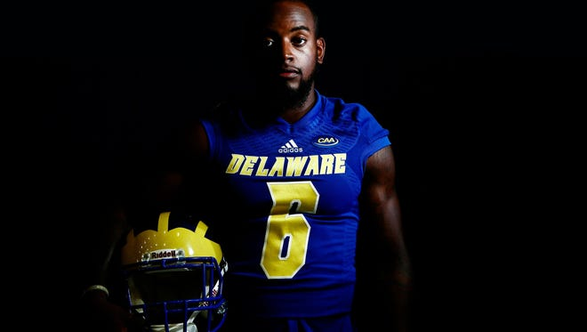 """After having an eye test and realizing """"I was far-sighted, near-sighted, astigmatism, everything,"""" Jamie Jarmon said, the Delaware receiver is wearing contact lenses and expects a breakthrough season."""