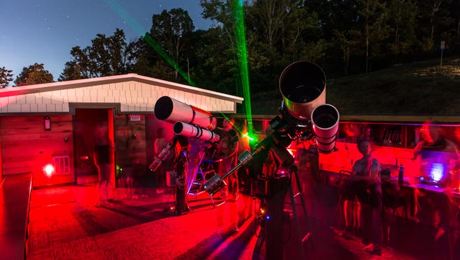 The Asheville Astronomy Club hosts regular star gazes at the new Lookout Observatory on the UNC Asheville.