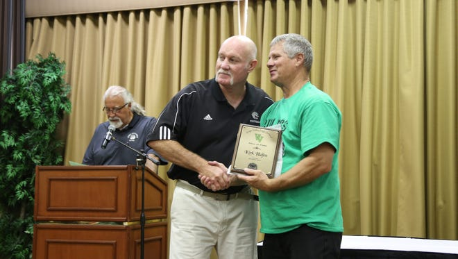 Hall of Fame inductee Kirk Hafen, taught a variety of subjects at Virgin Valley High School starting in 1985 and has coached its football, track and field and boy's golf team.