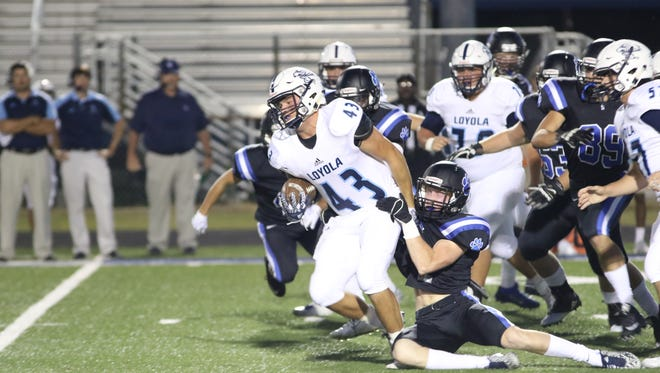 The Loyola College Prep Flyers played the Sterlington Panthers Friday night in Sterlington.